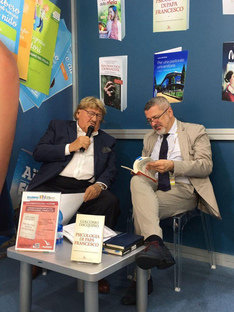 Francesco Antonioli dialoga con lo psichiatra Giacomo Dacquino al Salone del libro di Torino 2018