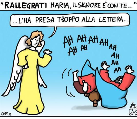 Benedette risate: una vignetta di Gioba