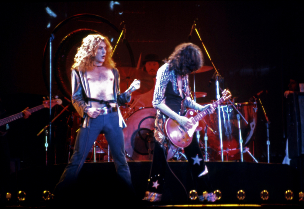 I Led Zeppelin in concerto nel 1975